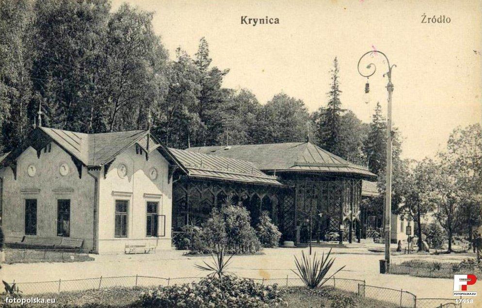 Lata 1910-1939. Nieistniejąca pijalnia wód mineralnych.