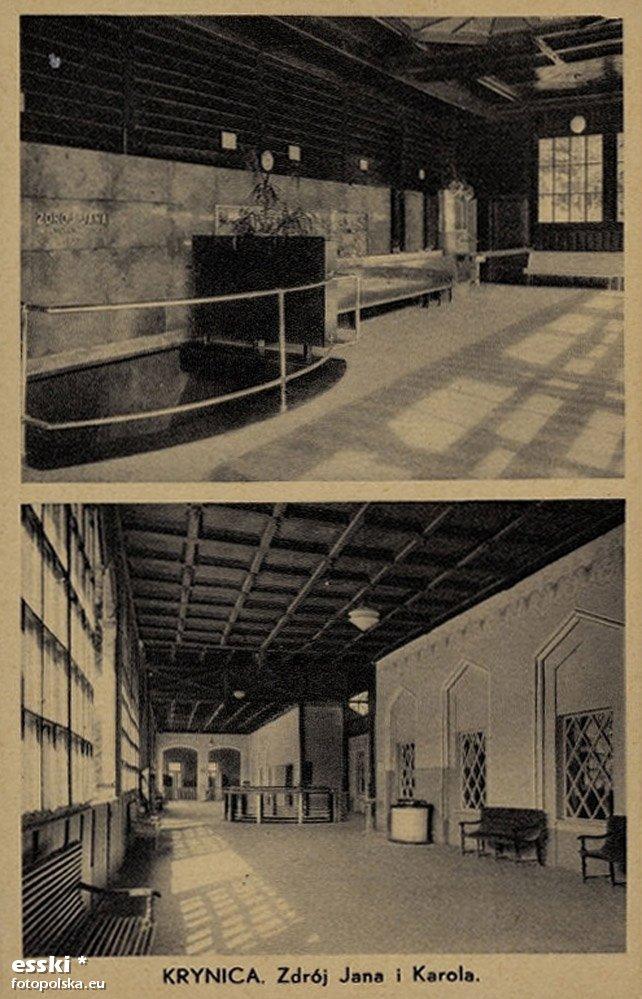 Lata 1920-1939. Wnętrze głównej pijalni.
