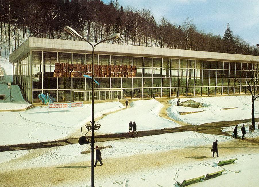 Lata 1972-1974. Pijalnia Główna zimą.