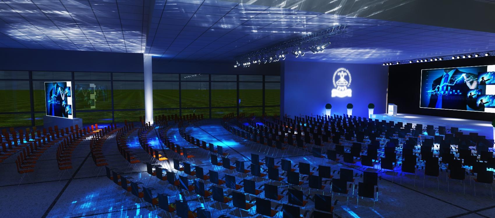 Konferencja do 1100 osób - Wieczorna Aranżacja Sali