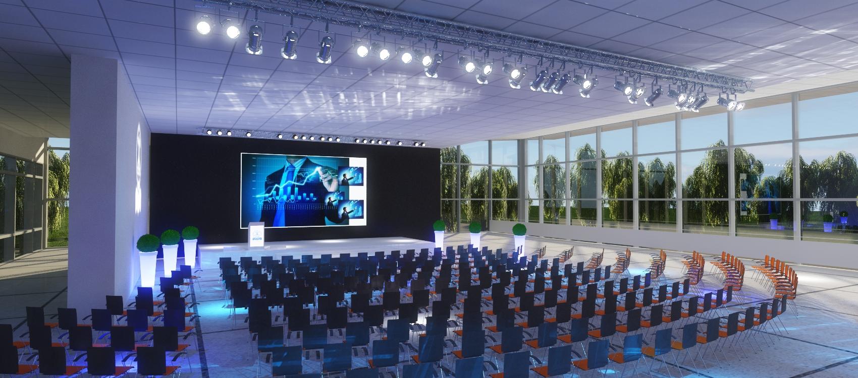 Konferencja do 1100 osób - Dzienna Aranżacja Sali